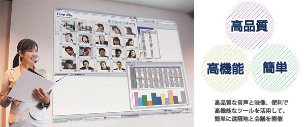 高品質・高機能・簡単 Web会議システム「LiveOn」