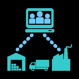製造業界向けの基幹業務システムのアイコン