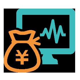 投資運用AI予測システムのアイコン